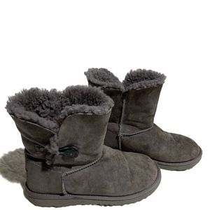 Ugg Size 5 Grey Short Bailey Button Boots